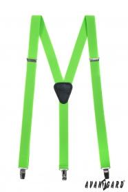 Neon zöld nadrágtartó Y-alakú 3-klip tartó