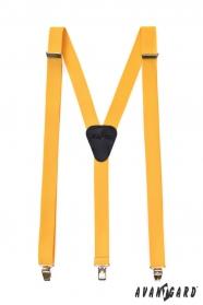 Sárga színű nadrágtartó Y-alakú 3-klip tartó
