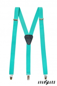 Menta színű nadrágtartó Y-alakú 3-klip tartó