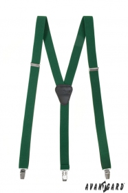 Smaragdzöld nadrágtartó fém klipekhez