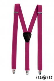 Nadrágtartó Y-alakú 3-klip tartó, világos lila