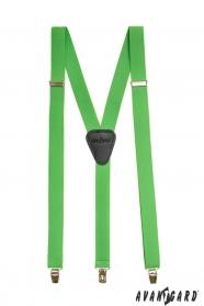 Zöld nadrágtartó Y-alakú 3-klip tartó