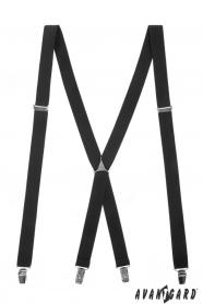Fekete nadrágtartó fém középső részével