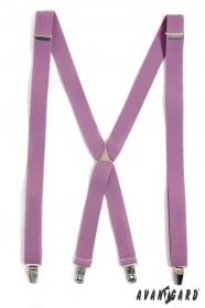 Nadrágtartó lila színek X-alakú 3-klip tartó