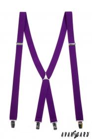 Lila nadrágtartó X-alakú 4-klip tartó