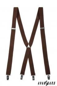 Barna nadrágtartó X-alakú 4-klip tartó