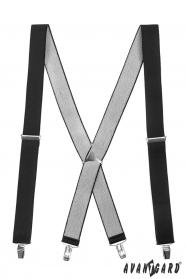 Kék nadrágtartó X-alakú 4-klip tartó
