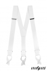 Fehér elasztikus nadrágtartó fehér bőr és a bőr hurkok