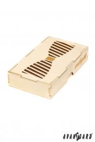 Fából készített dobozka csokornyakkendőnek