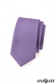 Keskeny nyakkendő, lila matt