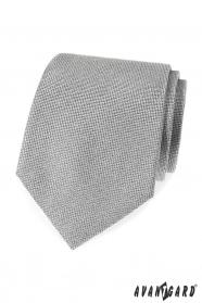 Szürke férfi strukturált nyakkendő