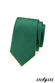Zöld pontozott keskeny nyakkendő