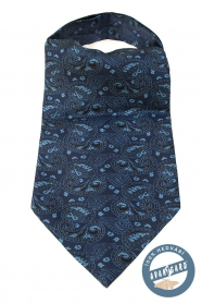Kék Ascot, halványkék mintája Paisley