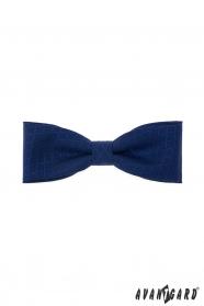 Sötétkék pamut férfi csokornyakkendő, kék mintával