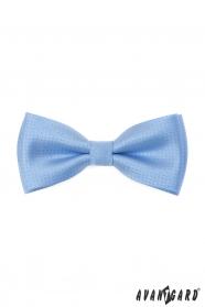Kék csokornyakkendő fényes mintával + díszzsebkendő