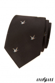 Barna nyakkendő, kacsa mintázat