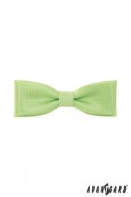 Klasszikus, kettős, zöld, anyagában mintás férfi csokornyakkendő