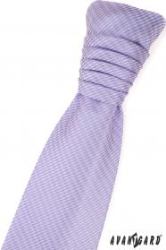 Lila mintás francia nyakkendő