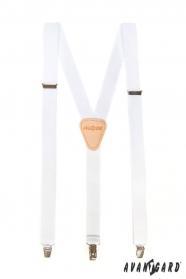 Fehér nadrágtartó Y-alakú 3-klip tartó