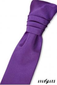 Francia fiú lila nyakkendő + díszzsebkendő