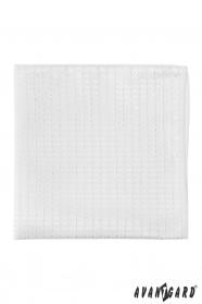 Lux mintás fehér díszzsebkendő