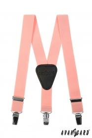 Fiú nadrágtartó Y-alakú 3-klip tartó, rózsaszín