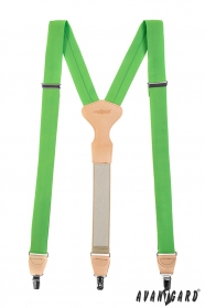 Zöld férfi nadrágtartó Y alak - 34 mm