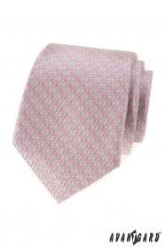 Férfi nyakkendő rózsaszín mintával
