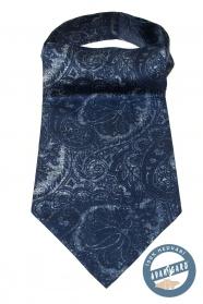 Kék Ascot érdekes paisley mintával