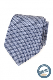 Kék mintás selyem nyakkendő