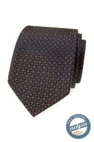 Barna selyem nyakkendő díszdobozban