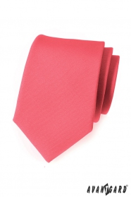 Matt nyakkendő Avantgard korall színű