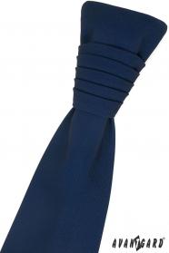 Sötét kék francia nyakkendő
