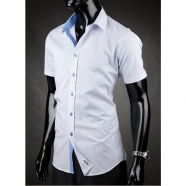 Rövid ujjú férfiing Desire - Kék-fehér
