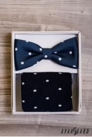 Kék csokornyakkendő zokni készletben
