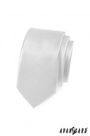 Sima fehér slim nyakkendő