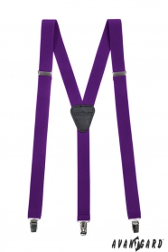 Lila nadrágtartó Y-alakú 3-csipeszes fogatás