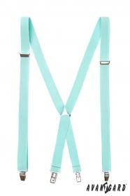 Menta kék nadrágtartó X-alakú 4-klip tartó