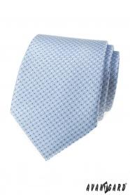 Világoskék nyakkendő pontokkal