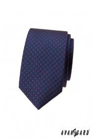 Sötétkék pöttyös keskeny nyakkendő