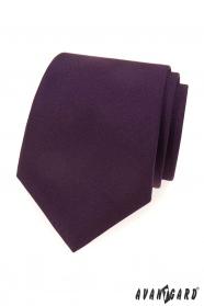 Sötét lila matt nyakkendő
