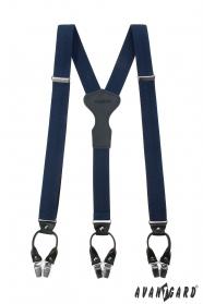 Kék luxus Y alakú nadrágtartók, ajándék dobozon