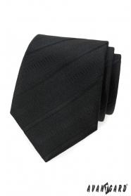 Fekete nyakkendő átlós csíkokkal