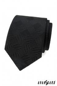 Fekete nyakkendő négyzet alakú mintával