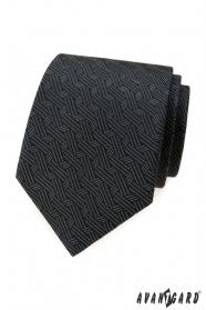 Szürke nyakkendő összefonódott csíkokkal
