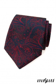 Nyakkendő kék-piros mintával