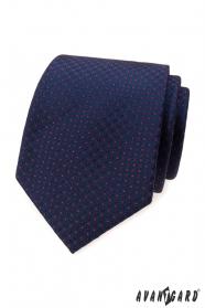 Kék nyakkendő kis piros pöttyösekkel