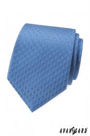 Kék nyakkendő gyémánt mintával