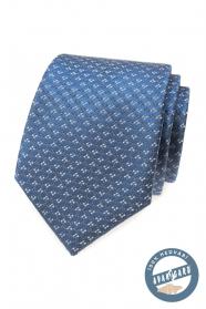 Kék selyem nyakkendő mintával