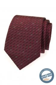 Bordó selyem nyakkendő egy ajándék dobozban